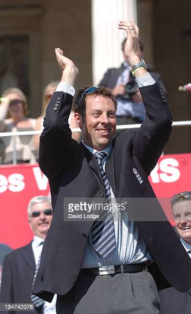 Marcus Trescothick during The England Cricket Team's Ashes Winning Celebrations Trafalgar Square Party at Trafalgar Square in London Great Britain