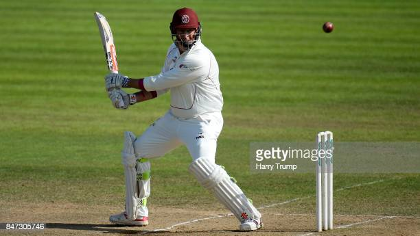 Marcus Trescothick of Somerset bats during Day Four of the Specsavers County Championship Division One match between Somerset and Lancashire at The...