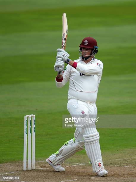 Marcus Trescothick of Somerset bats during Day One of the Specsavers County Championship Division One match between Somerset and Middlesex at The...