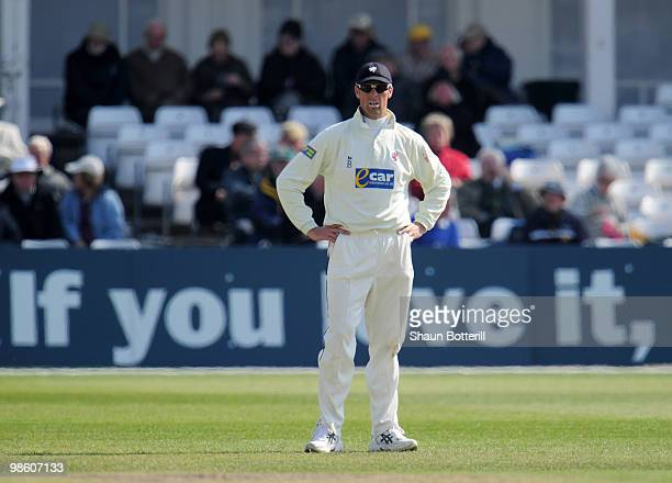Marcus Trescothick of Somerset during the LV County Championship match between Nottinghamshire and Somerset at Trent Bridge on April 22 2010 in...