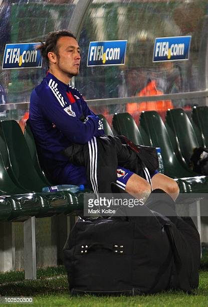 Marcus Tulio Tanaka of Japan shows his dejection after losing a penalty shootout during the 2010 FIFA World Cup South Africa Round of Sixteen match...