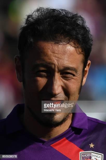 Marcus Tulio Tanaka of Kyoto Sanga looks on prior to the JLeague J2 match between Kyoto Sanga and KEF United Chiba at Nishikyogoku Stadium on...