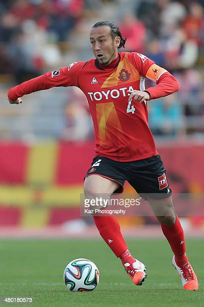 Marcus Tulio Tanaka of Nagoya Grampus in action during the J League match between Nagoya Grampus and Vissel Kobe at the Mizuho Athletic Stadium on...