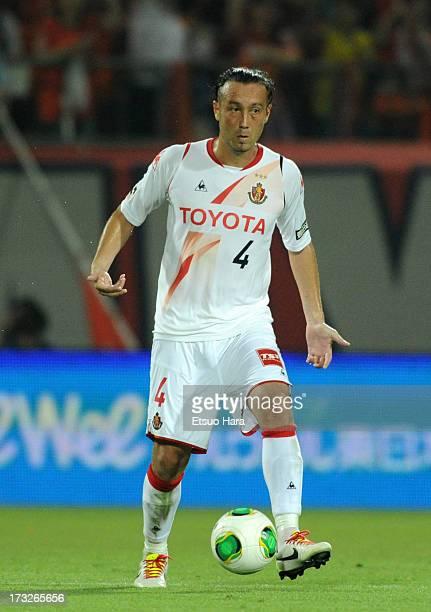 Marcus Tulio Tanaka of Nagoya Grampus in action during the JLeague match between Omiya Ardija and Nagoya Grampus at Nack 5 Stadium Omiya on July 10...