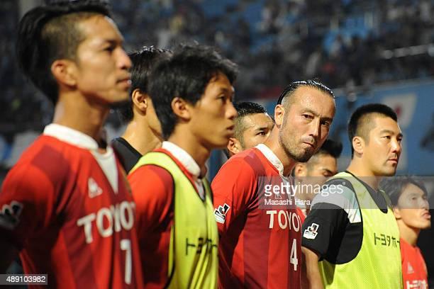 Marcus Tulio Tanaka of Nagoya Grampus looks on after the JLeague match between Kawasaki Frontale and Nagoya Grampus at Kawasaki Todoroki Stadium on...