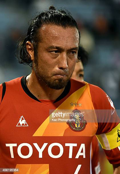 Marcus Tulio Tanaka of Nagoya Grampus looks on disappointed after defeat during the J League match between Nagoya Grampus and Albirex Niigata at...