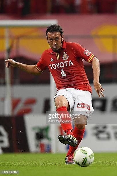 Marcus Tulio Tanaka of Nagoya Grampus passes the ball during the J League match between Nagoya Grampus and Gamba Osaka at the Toyota Stadium on...