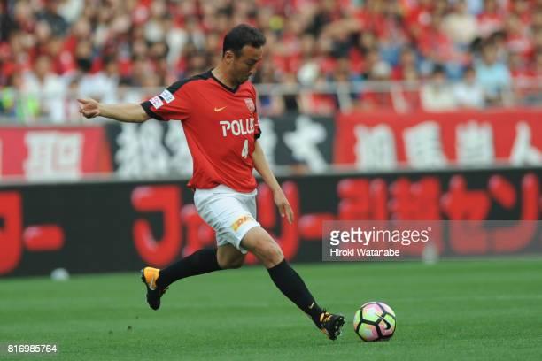 Marcus Tulio Tanaka Reds Legends in action during the Keita Suzuki testimonial match between Reds Legends and Blue Friends at Saitama Stadium on July...