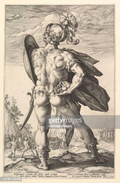 Marcus Valerius, from the series The Roman Heroes, 1586. Artist Hendrik Goltzius.