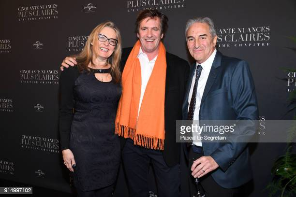Marcus Viscidi and guests attend 'Fifty Shades Freed 50 Nuances Plus Claires' Premiere at Salle Pleyel on February 6 2018 in Paris France
