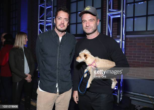 Marcus Wainwright and Liev Schreiber attend the screening of the rag bone film Time Of Day at The High Line on September 10 2018 in New York City