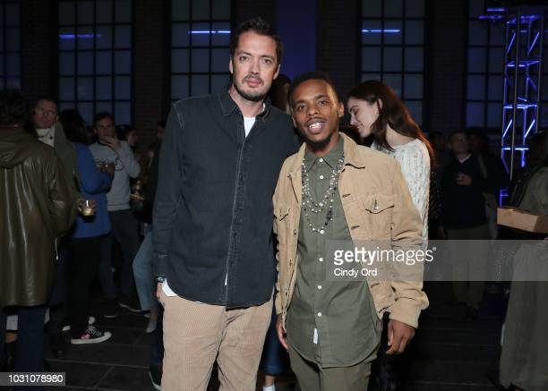 Marcus Wainwright and Lil Buck attend the screening of the rag bone film Time Of Day at The High Line on September 10 2018 in New York City