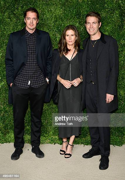 Marcus Wainwright, Gucci Westman, and David Neville attend the 12th annual CFDA/Vogue Fashion Fund Awards at Spring Studios on November 2, 2015 in...