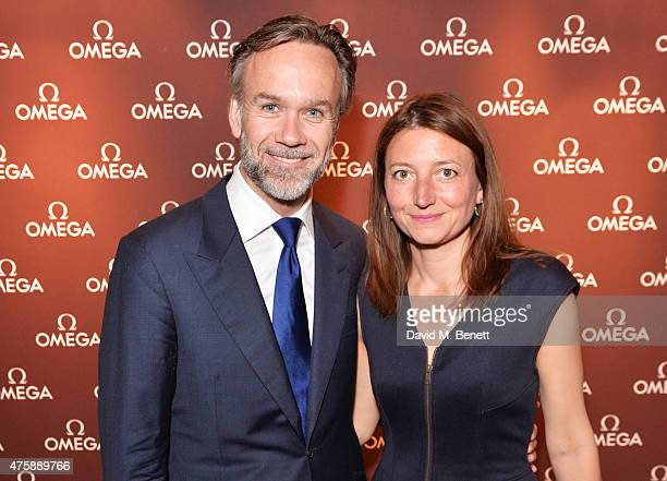 Marcus Wareing and Jane Wareing attend a VIP dinner hosted by OMEGA President Stephen Urquhart in honour of new international OMEGA ambassador Eddie...