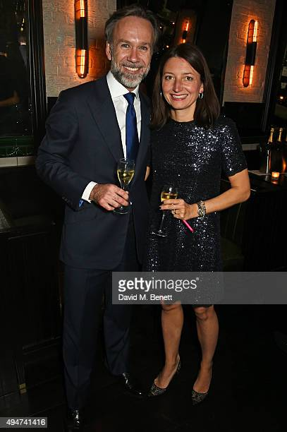 Marcus Wareing and Jane Wareing attend the after party following the European Premiere of Burnt at Tredwell's on October 28 2015 in London England