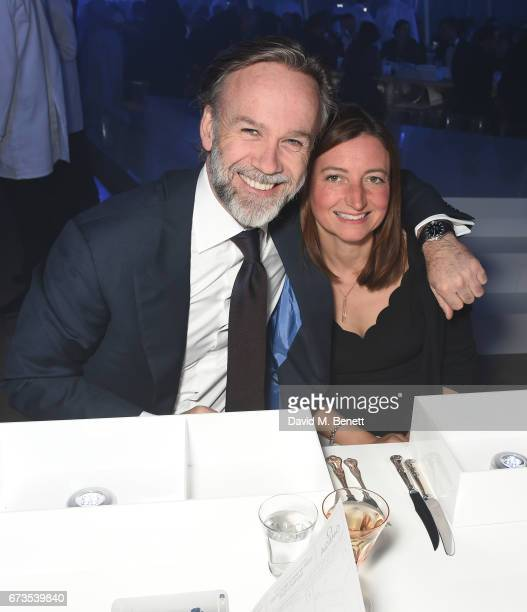 Marcus Wareing and Jane Wareing attend the OMEGA 'Lost In Space' dinner to celebrate the 60th anniversary of the OMEGA Speedmaster which has been...