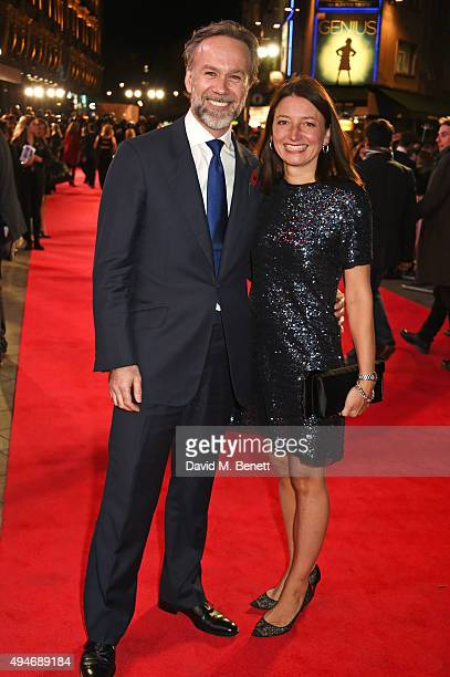 Marcus Wareing and Jane Wareing attend the UK Premiere of Burnt at Vue West End on October 28 2015 in London England