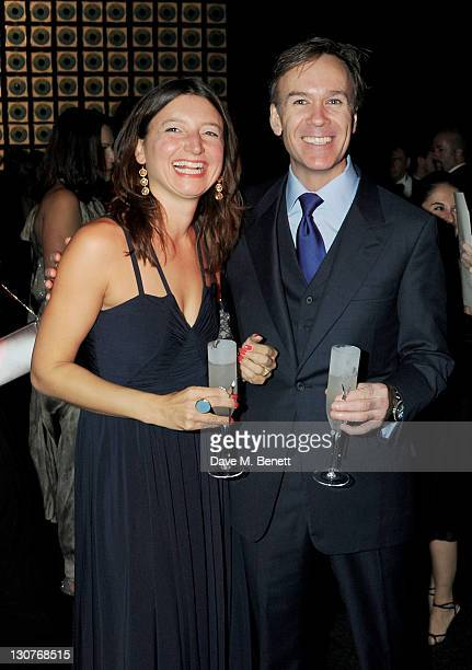 Marcus Wareing and wife Jane attend the Grey Goose Winter Ball to benefit the Elton John AIDS Foundation at Battersea Evolution on October 29 2011 in...