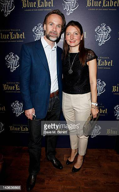 Marcus Wareing and wife Jane attend the official launch of the Johnnie Walker Blue Label Club at The Scotch Mason's Yard on May 1 2012 in London...