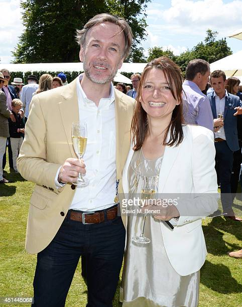 Marcus Wareing and wife Jane Wareing attend the Cartier Style Luxury Lunch at the Goodwood Festival of Speed on June 29 2014 in Chichester England