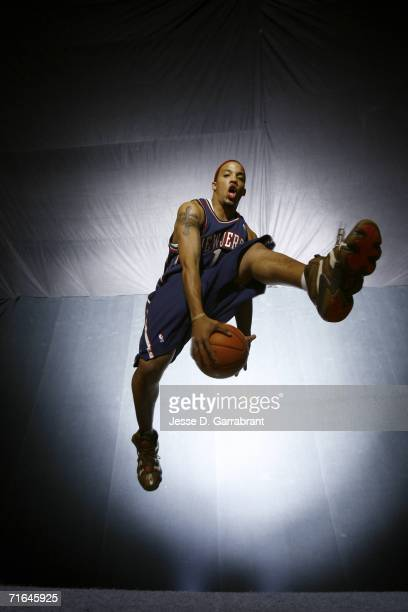 Marcus Williams of the New Jersey Nets poses for a portrait during the 2006 NBA Rookie Photo Shoot on August 14, 2006 at the MSG Training Facility in...