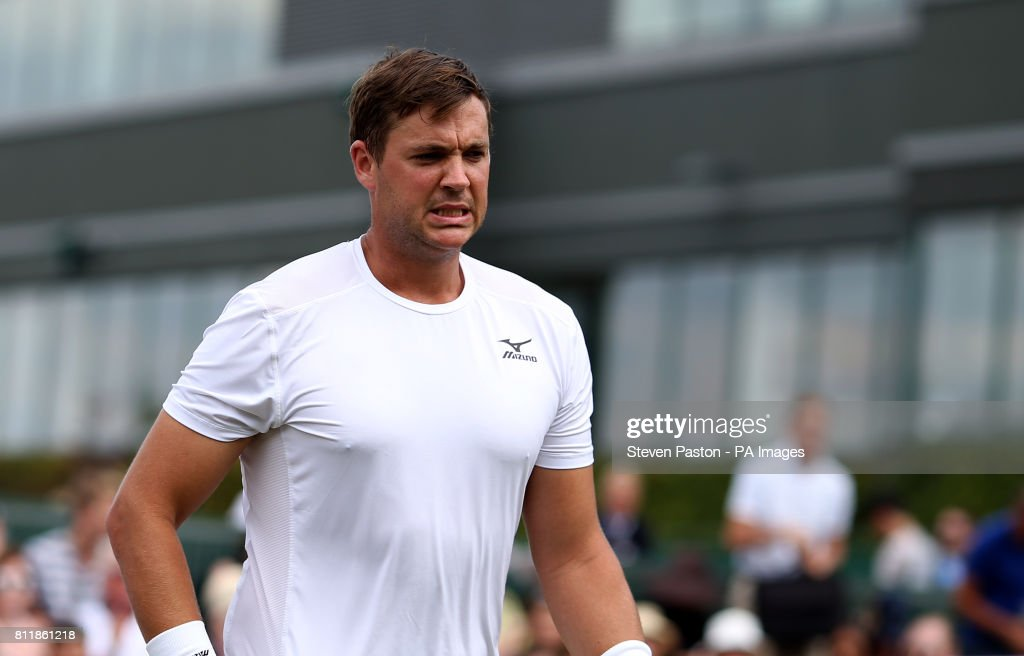 Marcus Willis after his doubles match with Jay Clarke on day seven of the Wimbledon Championships at The All England Lawn Tennis and Croquet Club, Wimbledon.