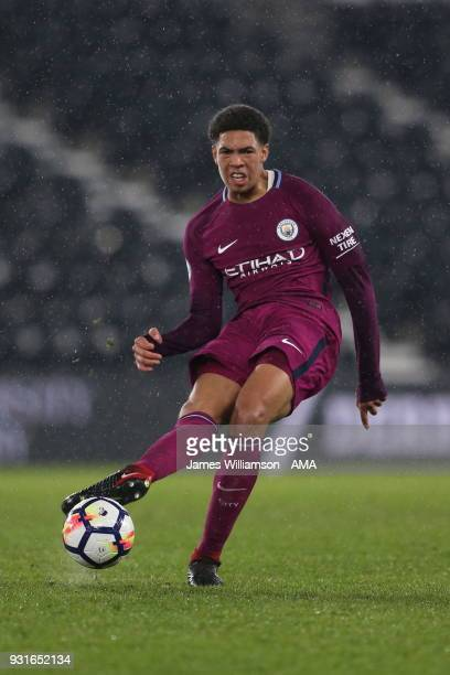 Marcus Wood of Manchester City during the Premier League 2 match between Derby County and Manchester City on March 9 2018 in Derby England