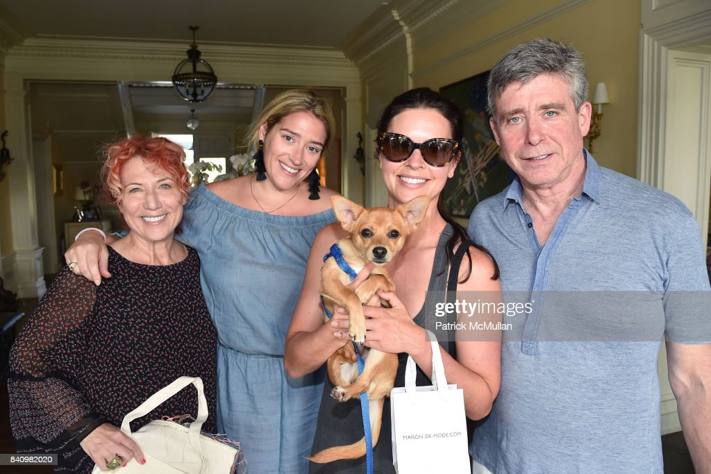 Marcy Blum, Suzanne Lyon, Katie Lee and Jay McInerney attend Anne Hearst McInerney and Jay McInerney's celebration of Amanda Hearst and Hassan Pierre's Maison de Mode at a Private Residence on August 26, 2017 in Water Mill, New York.