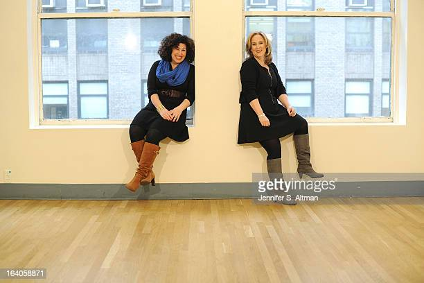 Marcy Heisler and Zina Goldrich Songwriting team Zina Goldrich and Marcy Heisler are photographed for Los Angeles Times on December 20 2012 in New...