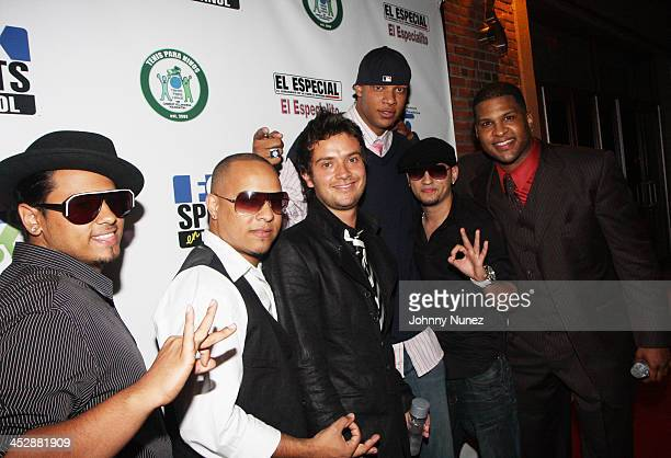 Marcy Place Carvalho Charlie Villanueva and Rob Villanueva attend the Tenis Para Ninos fundraiser event at Body NYC on August 13 2008 in New York City