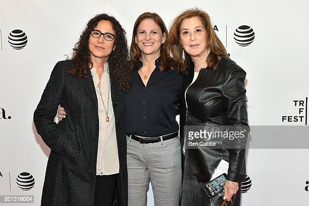 Marcy Ross Dana Goldberg and Paula Weinstein attend the Tribeca Tune In Grace And Frankie 2016 Tribeca Film Festival at SVA Theatre 1 on April 14...