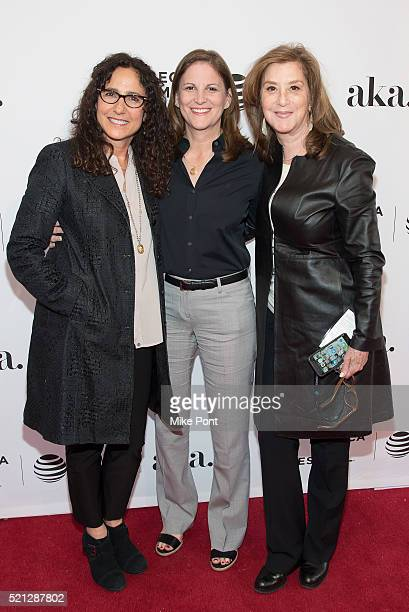 Marcy Ross Dana Goldberg and Paula Weinstein attend the Tribeca Tune In Grace and Frankie during the 2016 Tribeca Film Festival at SVA Theatre on...