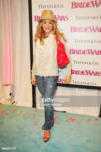 Marcy Rylan attends BRIDE WARS premiere arrivals at Loews Lincoln Center NYC on January 5 2009