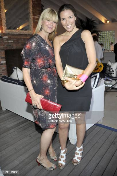 Marcy Warren and Ann Caruso attend QVC Style Initiative Dinner hosted by CEO Mike George at the home of Dennis Basso and partner Michael Cominotto on...