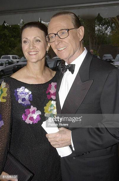 Mardi and Brian Henderson at the Channel Nine predrinks party for Brian Henderson 'Toasted and Roasted' Special farwell after 46 years in TV in Sydney