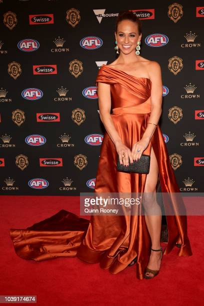 Mardi Dangerfield arrives ahead of the 2018 Brownlow Medal at Crown Entertainment Complex on September 24, 2018 in Melbourne, Australia.