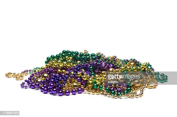 mardi gras beads - bead stock pictures, royalty-free photos & images