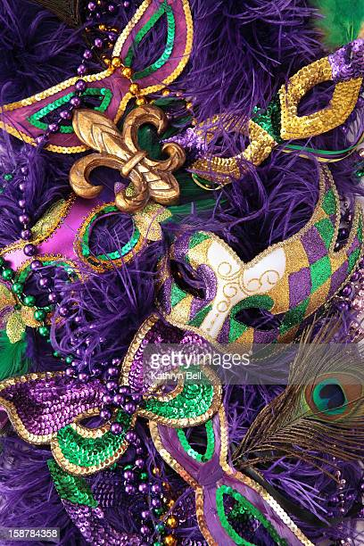 mardi gras carnival masks - mardi gras flashing stock photos and pictures