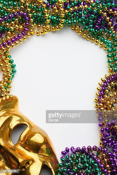 mardi gras frame - mardi gras new orleans stock photos and pictures