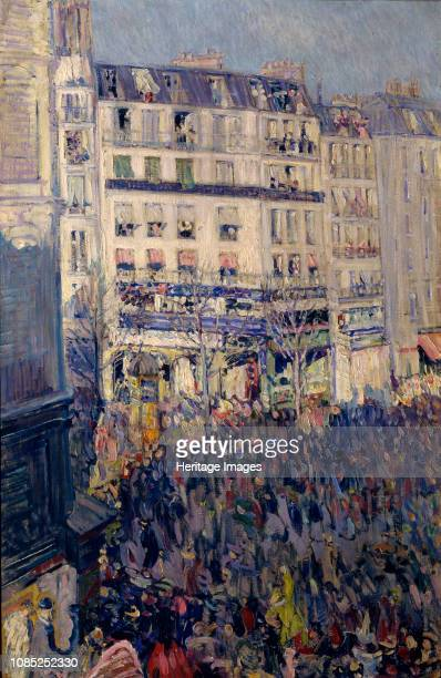 Mardi gras in Paris 1900 Found in the Collection of State Tretyakov Gallery Moscow