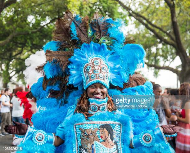 mardi gras indian on super sunday 2017 - gras stock pictures, royalty-free photos & images