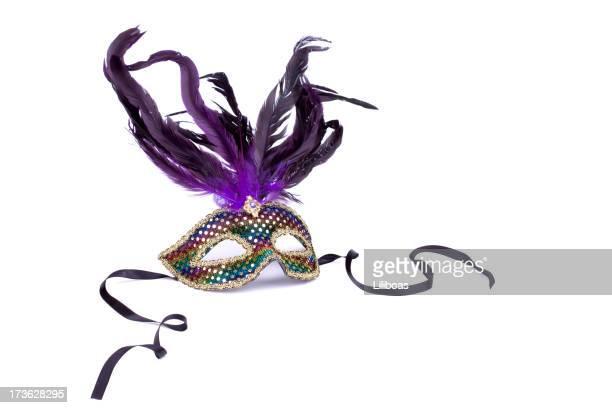 maschera mardi gras - maschere carnevale foto e immagini stock
