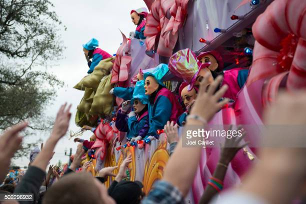 mardi gras parade - mardi gras parade stock photos and pictures