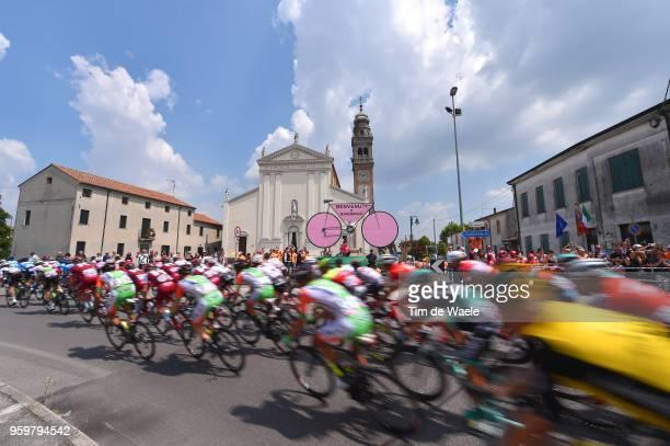 Mardimago City / Landscape / Peloton / Church / during the 101st Tour of Italy 2018, Stage 13 a 180km stage from Ferrara to Nervesa Della Battaglia /...