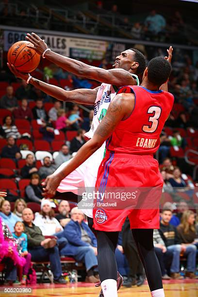 Mardracus Wade of the Iowa Energy drives to the basket against the Grand Rapids Drive in an NBA DLeague game on January 15 2016 at the Wells Fargo...