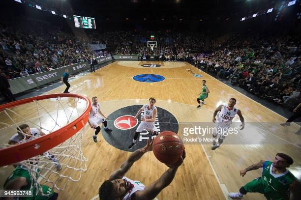Mardy Collins #1 of Lokomotiv Kuban Krasnodar in action during the 7DAYS EuroCup Basketball Finals game two between Darussafaka Istanbul v Lokomotiv...
