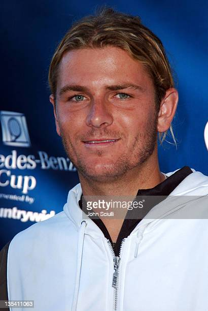 """Mardy Fish during Gibson/Baldwin Presents """"Night at the Net"""" at the 78th Annual Mercedes-Benz Cup Benefiting MUSICARES Foundation - Arrivals at Los..."""