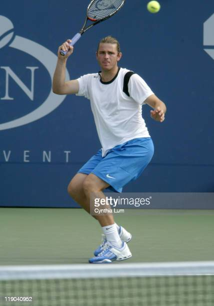 Mardy Fish during his second round match against Michal Tabara at the 2004 US Open in the USTA National Tennis Center in New York on September 2...