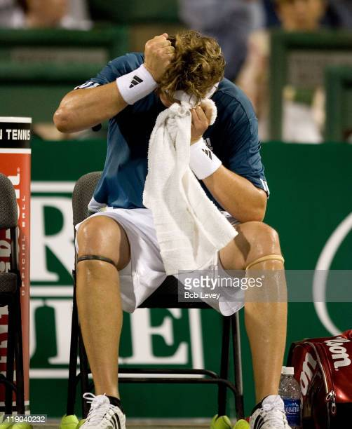 Mardy Fish reacts after being defeated by Mariano Zabaleta Mariano Zabaleta defeated [4]Mardy Fish 75 64 in 2nd round action at the US Mens Clay...