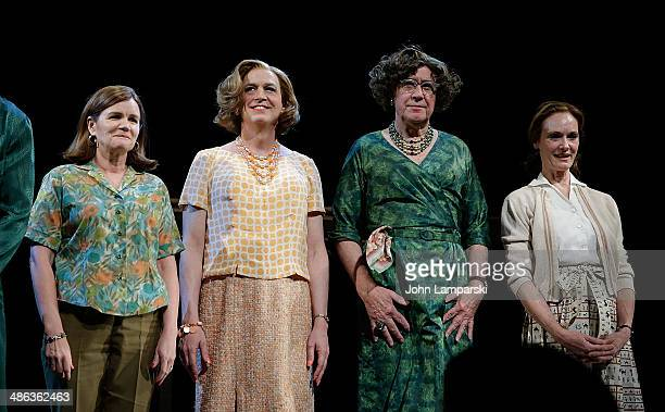 """Mare Winningham, Reed Birney, Larry Pine and Lisa Emery attend the Broadway opening night for """"Casa Valentina"""" at Samuel J. Friedman Theatre on April..."""